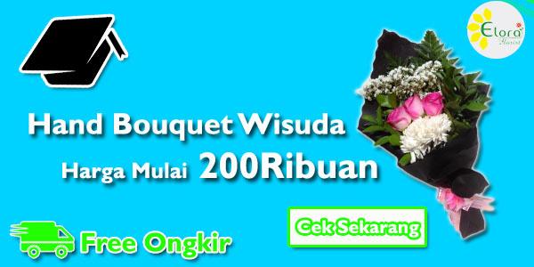 banner handbouquet wisuda