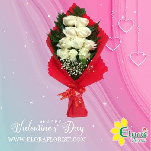 Bunga Mawar Putih Valentine Val HBM-024