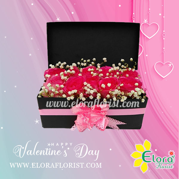 bloom box kotak pink eloraflorist